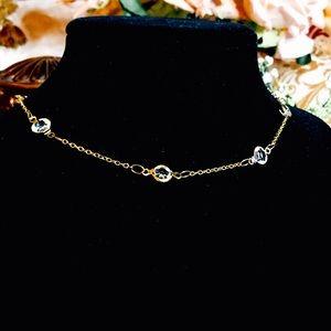 Jewelry - 🆕14K Crystal stone choker🌸
